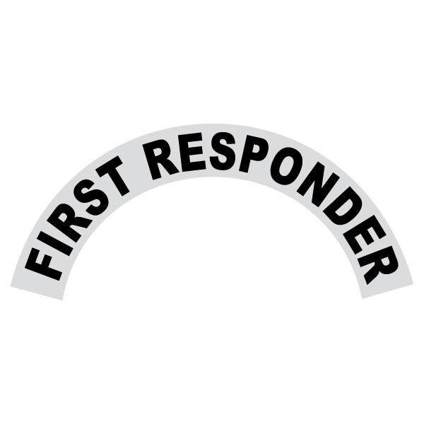 First Responder Black Helmet Crescent Reflective Decal Sticker