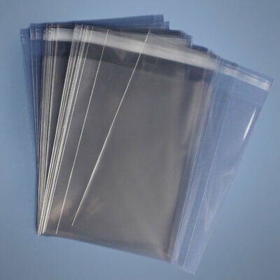 24x30 Clear Resealable Self Adhesive Seal Cello Lip Tape Plastic Bags 1.6 Mil