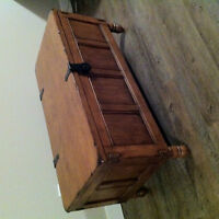 Brown Wood Chest Coffee Table