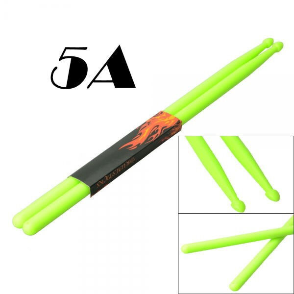 One Pair Nylon Stick Drumstick 5A Drumsticks Nylon Drum Sticks Green