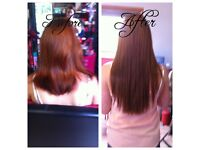 Hot fusion bonds hair extensions