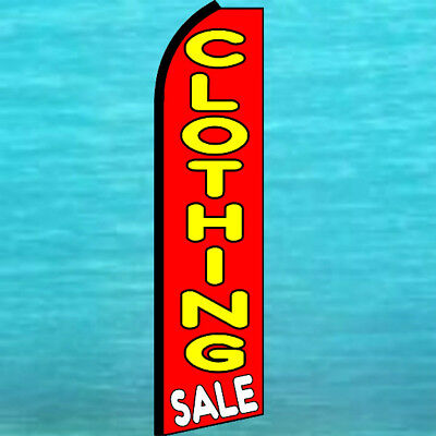 Clothing Sale Swooper Flag Tall Curved Advertising Sign Flutter Feather Banner