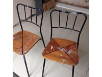 2 agne ikea bistro chairs need tlc heavy solid chairs