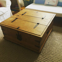 """Unique Antique """"Truck Style"""" Coffee Table & Matching Side Table"""