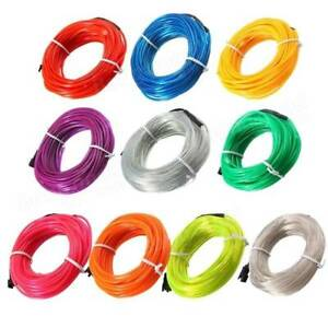 10M EL Led Flexible Soft Tube Wire Neon Glow Rope Strip Light