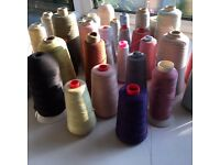 33 cones / spools of serger thread for overlocker sewing machine