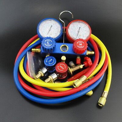 AC Refrigeration Kit A/C Manifold Gauge Set Air R12 R22 R134a 410a R404z Compact