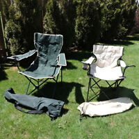 2 camping chairs for $ 15.00