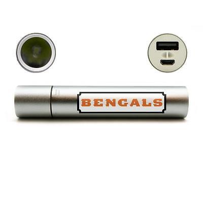 Cincinnati Bengals Portable Phone Charger Power Bank Flash Light Hand Warmer Nfl