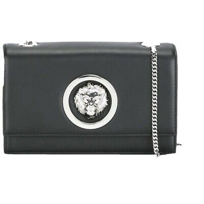 Versus Versace Mini Flap Chain Bag - Black & Silver