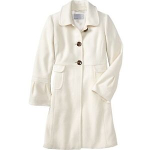 SPRING WOMEN'S OLD NAVY WHITE WOOL BLEND BELL SLEEVE JACKET