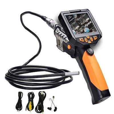 Longer 3M Dia 8.2mm Tube Snake Camera Endoscope Inspection Borescope DVR +Torch on Rummage