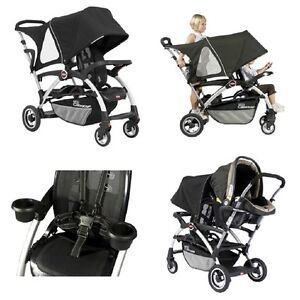 Double/Tandem Stroller with Universal Car Seat Adapter by Joovy