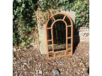Vintage shabby chic rust effect mirror