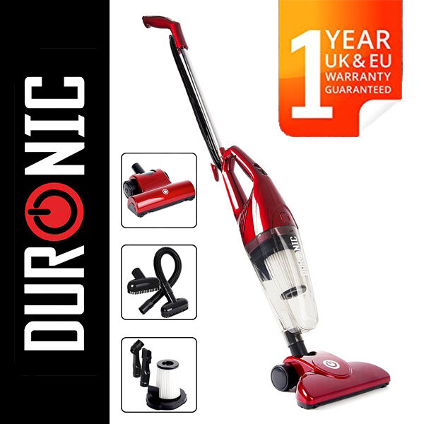 Duronic VC7/RD Bagless Upright Stick Vacuum Cleaner With Hepa UK Energy Class B