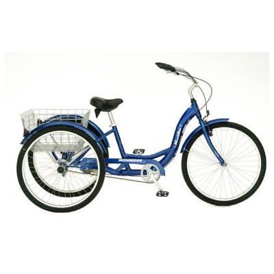 "Adult Tricycle 26"" Schwinn Bike Folding Basket Bicycle 3-wheel Beach Trike"