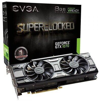 EVGA GeForce GTX 1070 BLACK EDITION SC GAMING ACX 3.0 8GB GDDR5 NEW&SEALED!