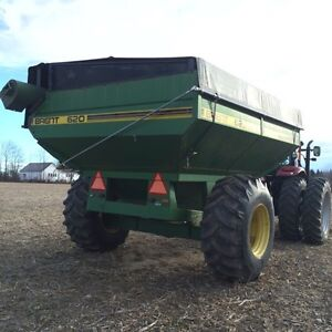 620 Brent grain cart and other equipment