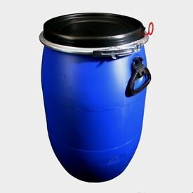 60L Litre Ltr Open Top Plastic Storage Drum Barrel Keg With Lid