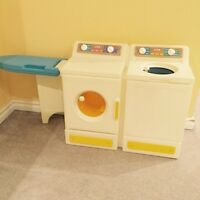 Little tikes laundry centre, washer dryer