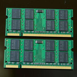 Neu 4GB 2x 2GB PC2-5300 5300 DDR2 667 MHZ 2Rx8 Laptop Speicher SO-DIMM 200pin