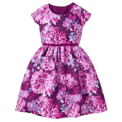 Floral Dupioni Dress.  Purple Plum dress for girls - Plum Dresses For Girls