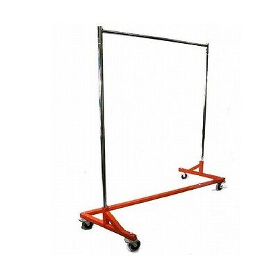 New Z Rack Style Clothes Rack Orange Base Commercial Duty Retail Style Z Rack