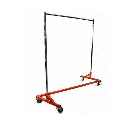 New Z Rack Style Clothes Rack Orange Base Commercial Duty Retail Style Z Rack