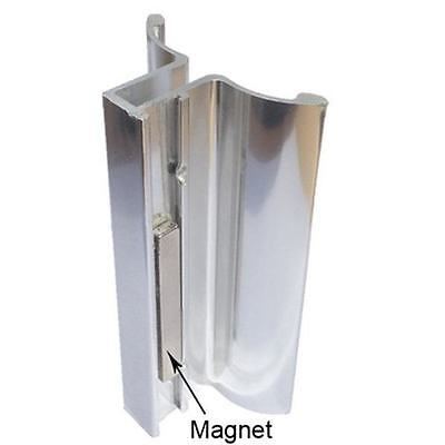 Bright Chrome Frameless Shower Door Handle with Magnet
