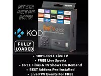 Amazon Fire TV Stick FULLY LOADED Kodi 16.1 ✔MODDED ✔LIVE TV ✔FREE SPORTS ✔FILMS