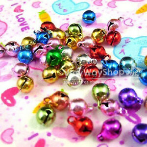 new-100-pcs-Jingle-Bell-Huge-Assorted-Color-5mm-Charms