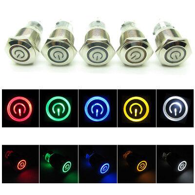 Power Starter Push Button Switch Led Indicator Light Symbol 16mm 12v 24v 220v