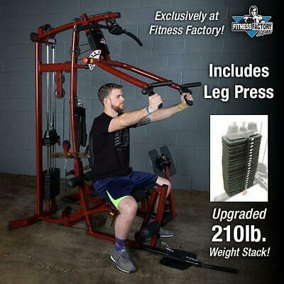 Body-Solid EXM1 Home Gym Multi Station Gym w/ Leg Press and 210 lb weight stack