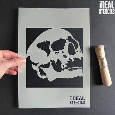 Halloween Human Skull Decoration Stencils Craft Paint Reusable Window - Halloween Skull Stencils