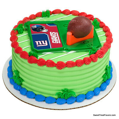 New York Giants Football NFL Cake Topper Decoration Supplies Set Cupcake - Ny Giants Cake