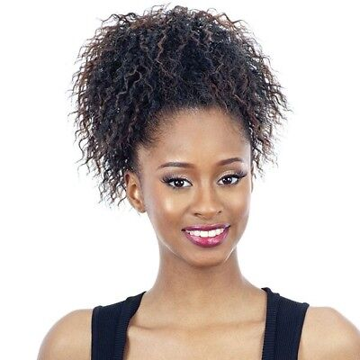 (KISS POP - FREETRESS EQUAL SYNTHETIC DRAWSTRING PONYTAIL CURLY KINKY AFRO STYLE)