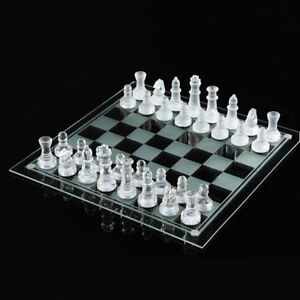 Glass Crystal Chess Set / Checkers board -