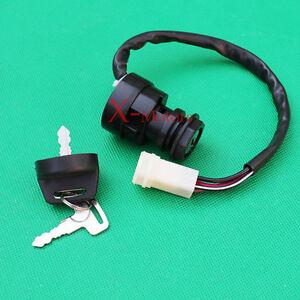 key ignition switch yamaha moto 4 yfm 225 250 350 atv 86 87 88 89 90 91 92 93 94