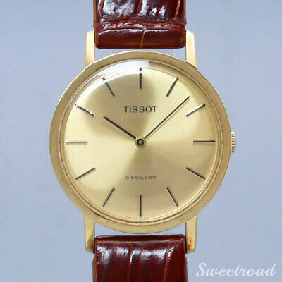 TISSOT STYLIST 20μ GOLD CASE  Cal.2141  Manual winding  1970s  Unused [a1023]