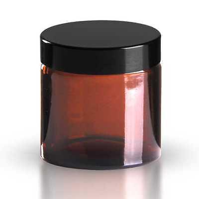 10 x Glastiegel 60ml Braunglas inkl. Schraubverschluss mit Dichtungsscheibe