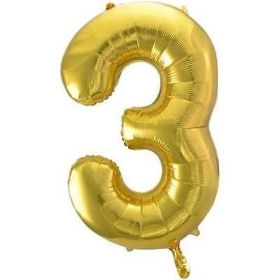 Gold Foil 3  Balloon  Birthday party supply decor 8