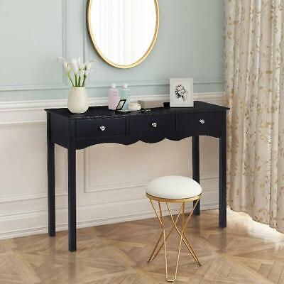 Costway Console Table Hall Side Desk Accent 3 Drawers Entryway Home Furniture US