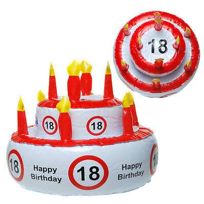 18 Happy Birthday Aufblasbare Torte Geburtstagstorte Scherzartikel Geburtstag (Happy 18 Birthday)