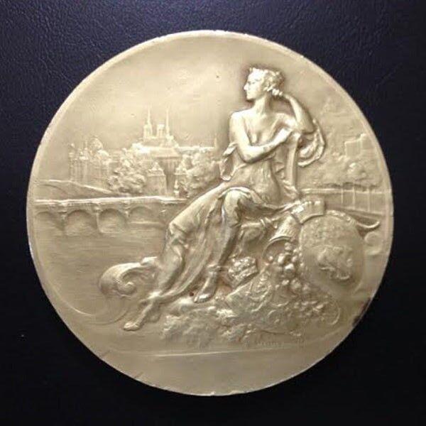 Banque de Paris et Des Pays Bas 50th Anniversary Medal, 1922 by Henry Nocq / M60