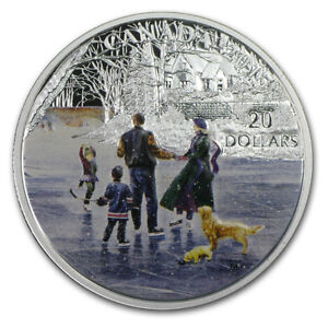 $20 Silver Coin - Ice Dancer - Royal Canadian Mint