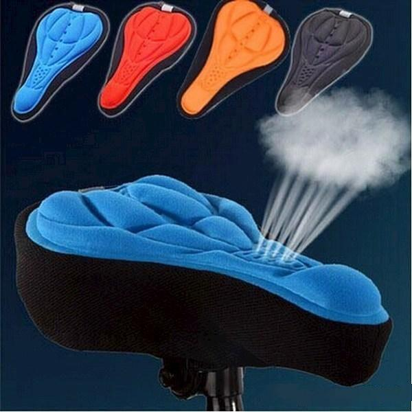 BICYCLE GYM COMFORT GEL SEAT SADDLE COVER CUSHION FOR BICYCL