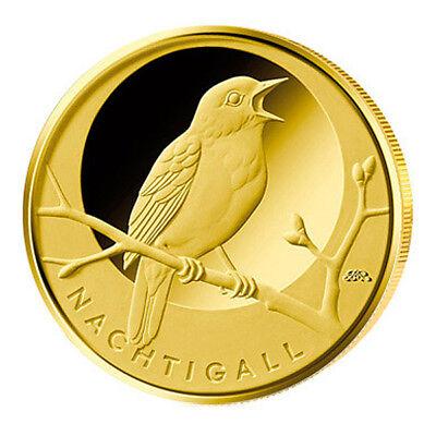 Deutschland 20 Euro Gold Nachtigall 2016 - Heimische Vögel BRD Prägebuchstabe D