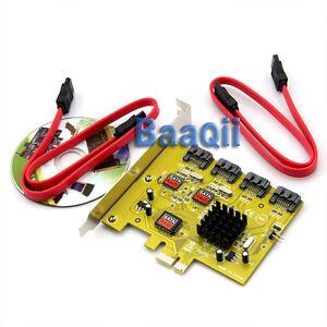 PCI-E Express to 4 Internal SATA II Raid Controller Adapter Card For JMB363 DH