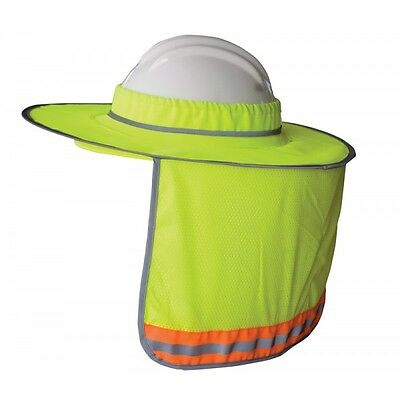 Hi Vis Full Brim Hard Hat Sun Shade High Visibility Reflective Lime Orange