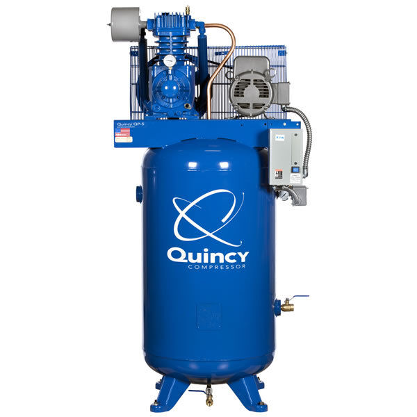 Quincy 5-hp 80-gallon Pressure Lubricated Two-stage Qp Pro Air Compressor (46...